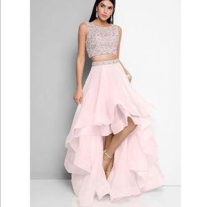 e4a2cbdca187 Terani Couture Dresses - High low 2 piece Terani Couture Prom Dress